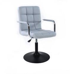 Kosmetická židle VERONA na černém talíři - šedá