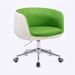 Kosmetická židle MONTANA na podstavě s kolečky zelenobílá