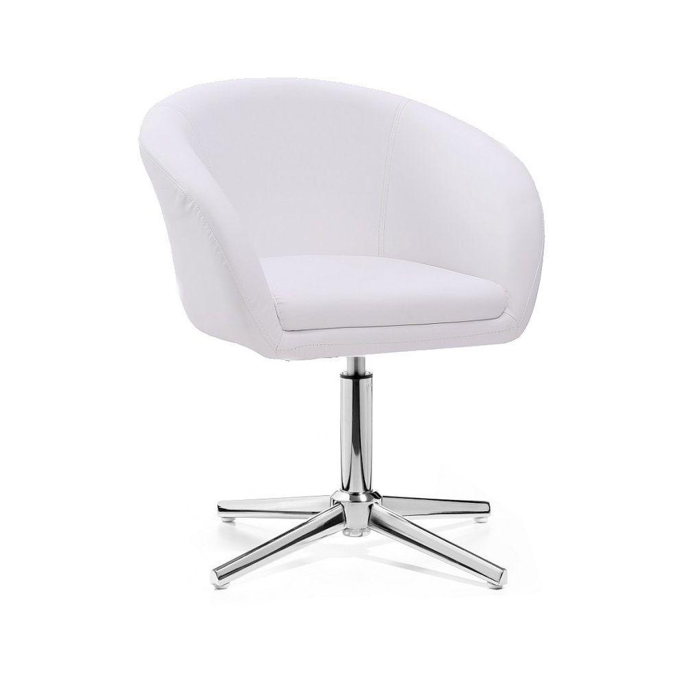 Židle HC-8326K na stříbrném kříži - bílá