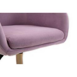 Kosmetická židle VENICE VELUR na stříbrné podstavě s kolečky - fialový vřes