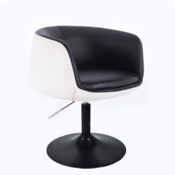 Kosmetické křeslo MONTANA na černém talíři - černobílé