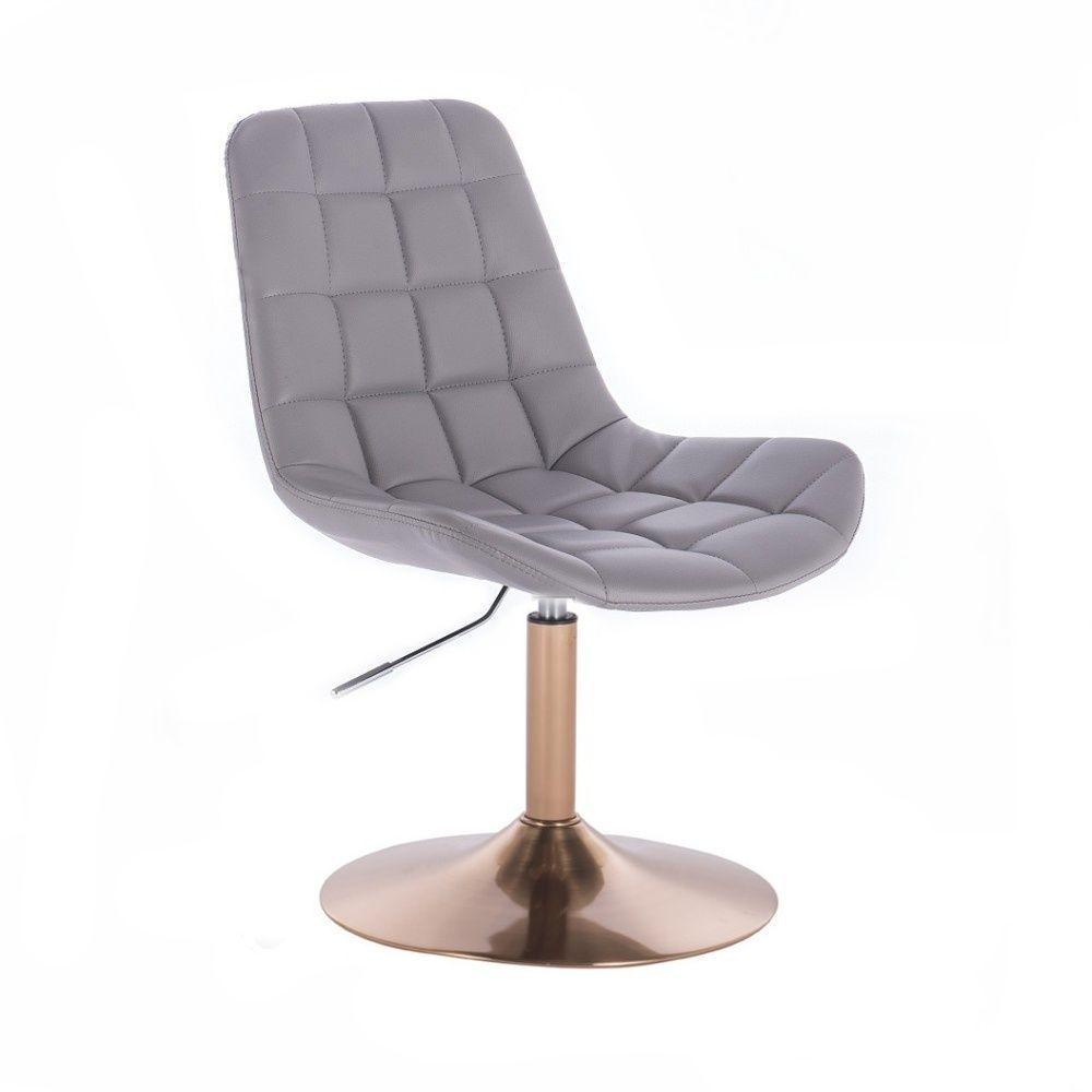 Kosmetická židle PARIS na zlatém talíři - šedá