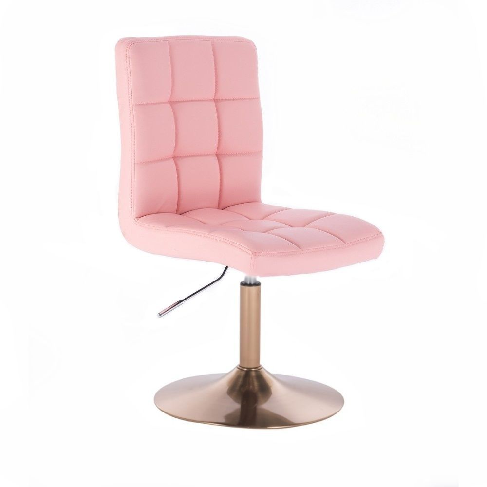 Kosmetická židle TOLEDO na zlatém talíři - růžová