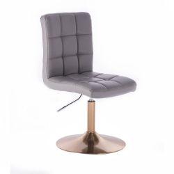 Kosmetická židle TOLEDO na zlatém talíři - šedá