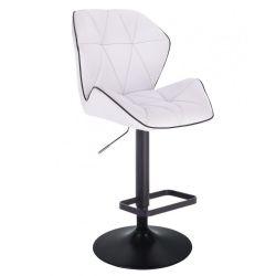 Barová židle MILANO MAX na černém talíři - bílá