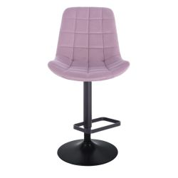 Barová židle PARIS na černém talíři - fialový vřes