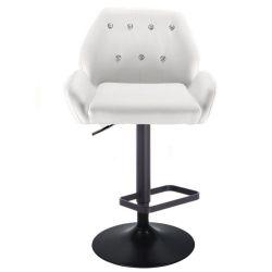 Barová židle LION na černém talíři - bílá