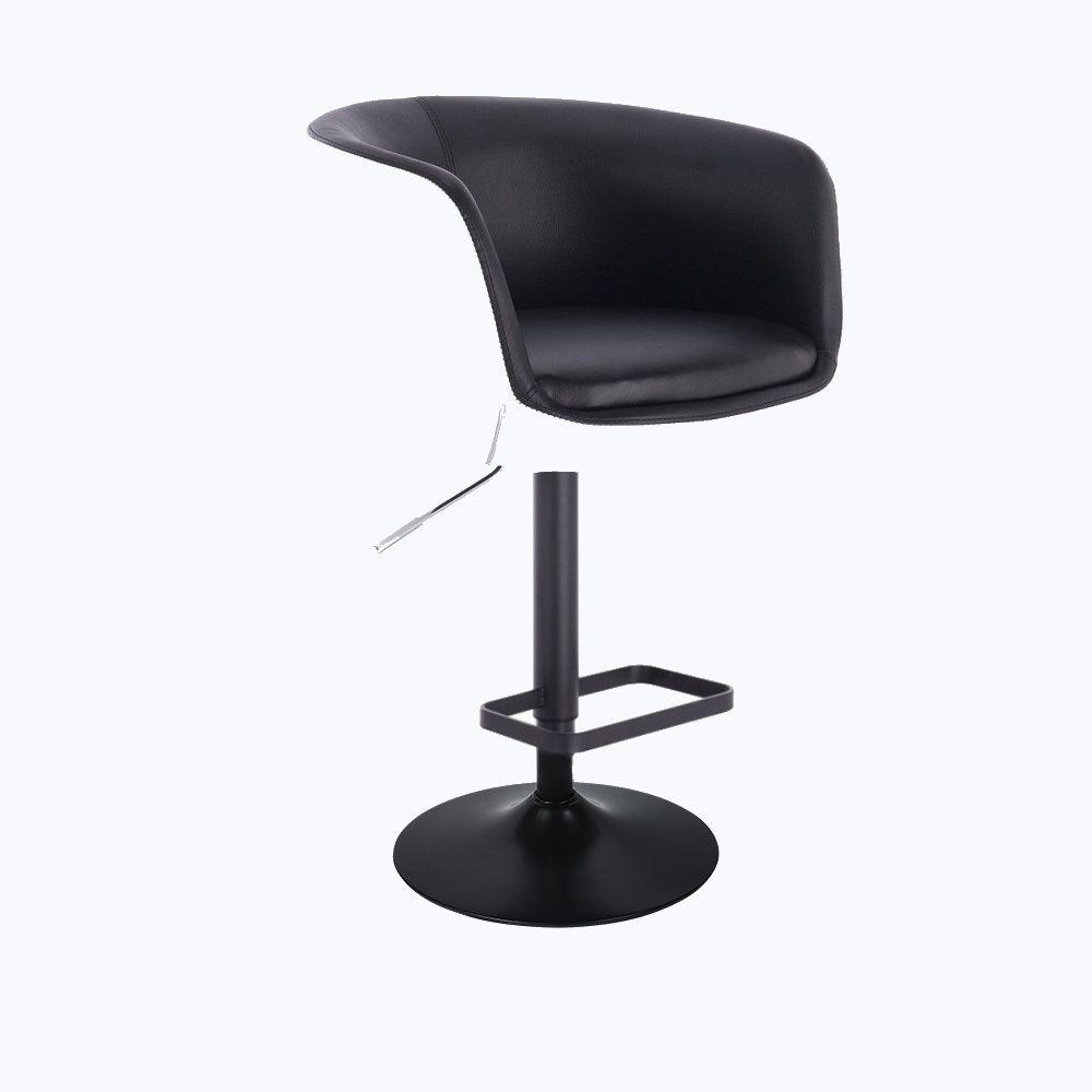 Barová židle MONTANA na černém talíři - bílo-černá