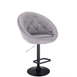 Barová židle VERA na černém talíři - šedá