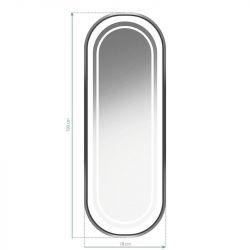 GABBIANO Kadeřnické zrcadlo s osvětlením ILLUMINATED B098 stříbrné