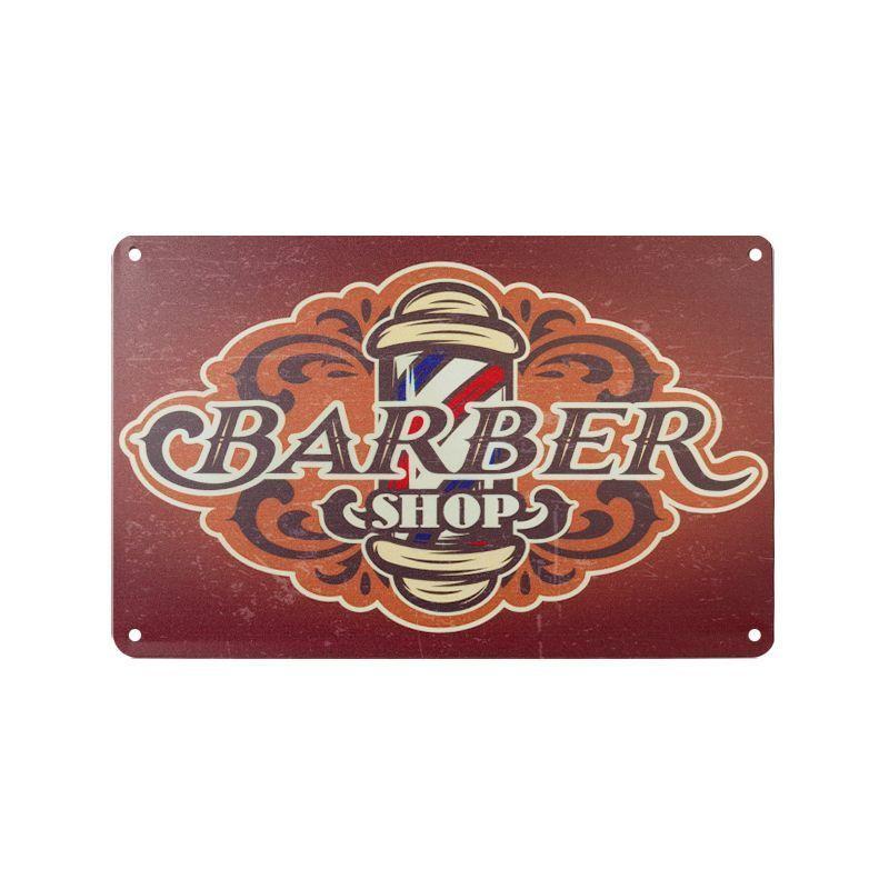 Plechová retro cedule Barbershop B084