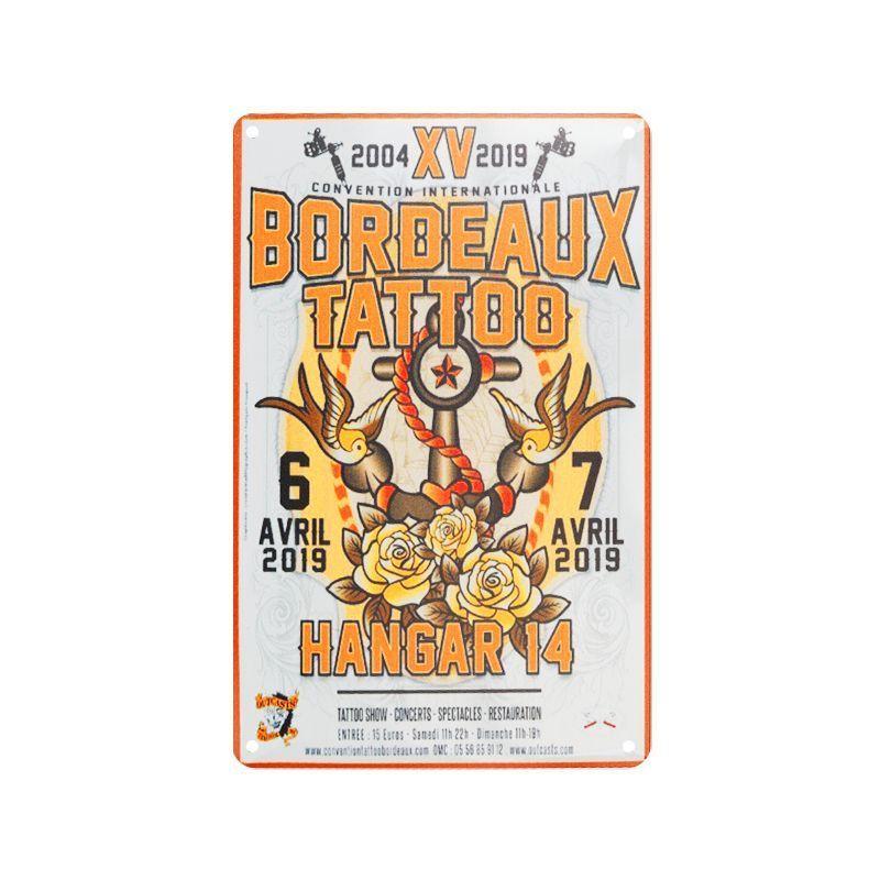 Plechová retro cedule Tattoo TA142