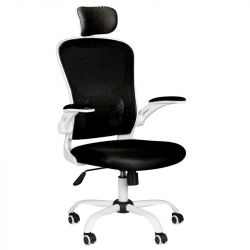 Kancelářská židle MAX COMFORT 73H - černo-bílá
