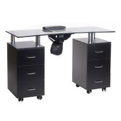 Manikúrní stolek + absorbér BD-3425-1 + P černý