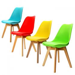 Plastové židle barevné