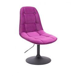 Kosmetická židle SAMSON VELUR na černém talíři - fuchsie