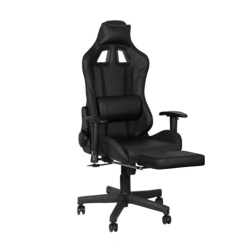 Herní židle Premium 557 s opěrkou nohou - černá