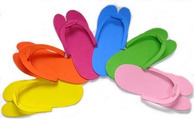 Jednorázové pantofle z polyethylenu