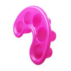 Tvarovaná plastová miska na manikúru - růžová