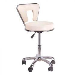 Kosmetická stolička s opěrkou BG-823 krémová