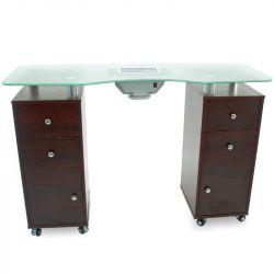 Kosmetický stůl AZZURRO 2031 GLASS venge s odsávačem (AS)