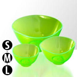 Sada 3 silikonových misek na alginátové masky - zelené (rozměry S+M+L) (A)