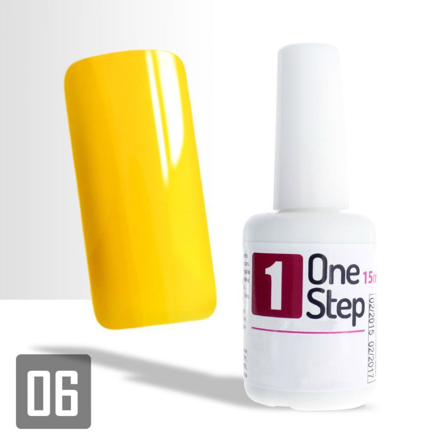 One Step gel UV/LED 3v1 žlutý 15ml