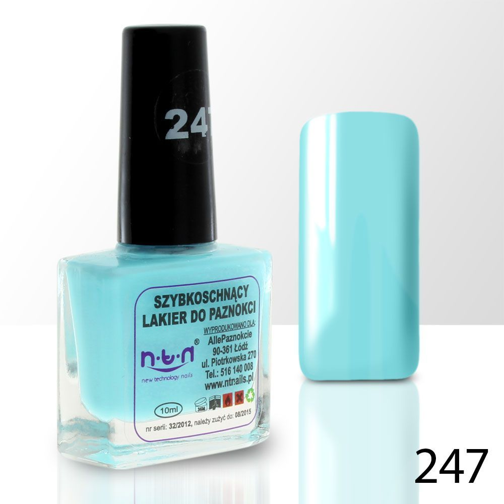 Lak na nehty NTN - 247 modrý - 10ml