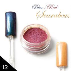 12. Chromatic pigment - BLUE/RED SCARABEUS - Chromový efekt (A)