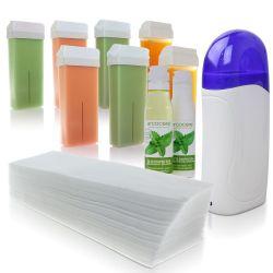 Depilační sada - ohřívač vosku + 7x vosk + 100ks pásek + olejíček + mléko (A)