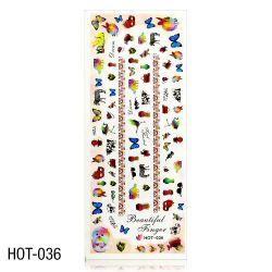 Vodolepky na zdobení nehtů - velký list 12,7 x 5,5cm HOT-036