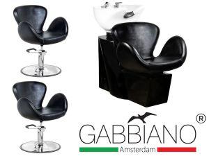 Kadeřnický set 2+1 GABBIANO AMSTERDAM černý (AS)