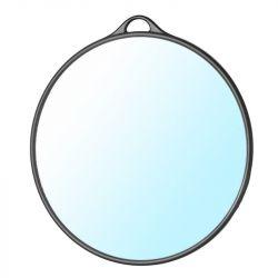 Kulaté kadeřnické zrcadlo s rukojetí - černé