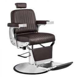 Barbers - holičské křeslo GABBIANO CONTINENTAL hnědé (AS)