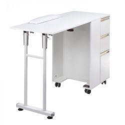 Skládací stolek na manikúru BD-3802 bílý