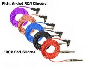 Right Angled RCA Silicone Clip Cord - 2,4 m (NATS)