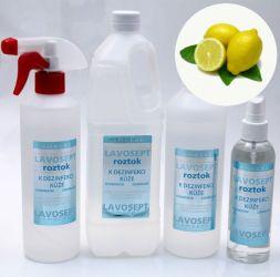 Dezinfekce na ruce 500 ml (s rozprašovačem) - citronové aroma (AM)