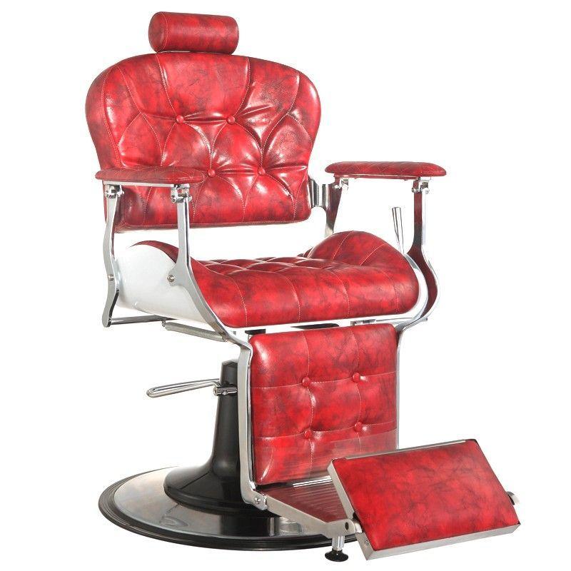 Barbers - holičské křeslo GABBIANO PREMIER červené
