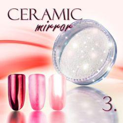 Zdobící prášek na nehty CERAMIC MIRROR - 3. Red (A)