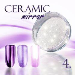 Zdobící prášek na nehty CERAMIC MIRROR - 4. Purple (A)