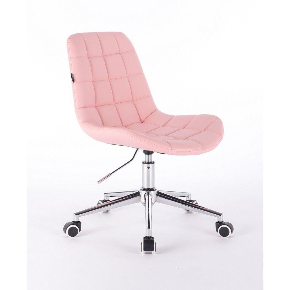 Kosmetická židle HR590K na kolečkách růžová