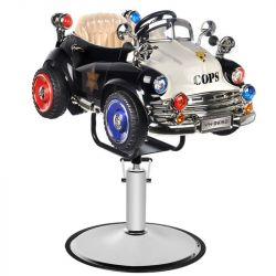 Dětské kadeřnické křeslo GABBIANO - autíčko - Policie B082 (AS)