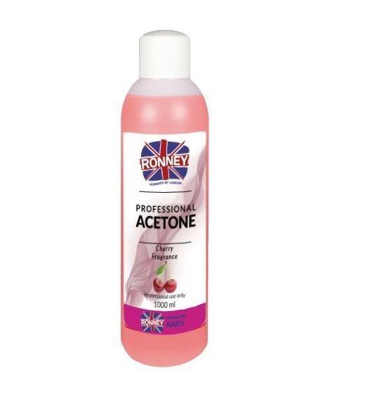 Kosmetický aceton, odstraňovač gelu 100ml - višeň