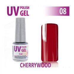 08.UV gel lak na nehty hybridní CHERRYWOOD -višeň 6 ml (A)