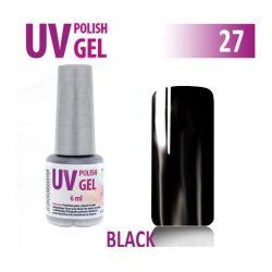 27.UV gel lak hybridní BLACK černý 6 ml (A)