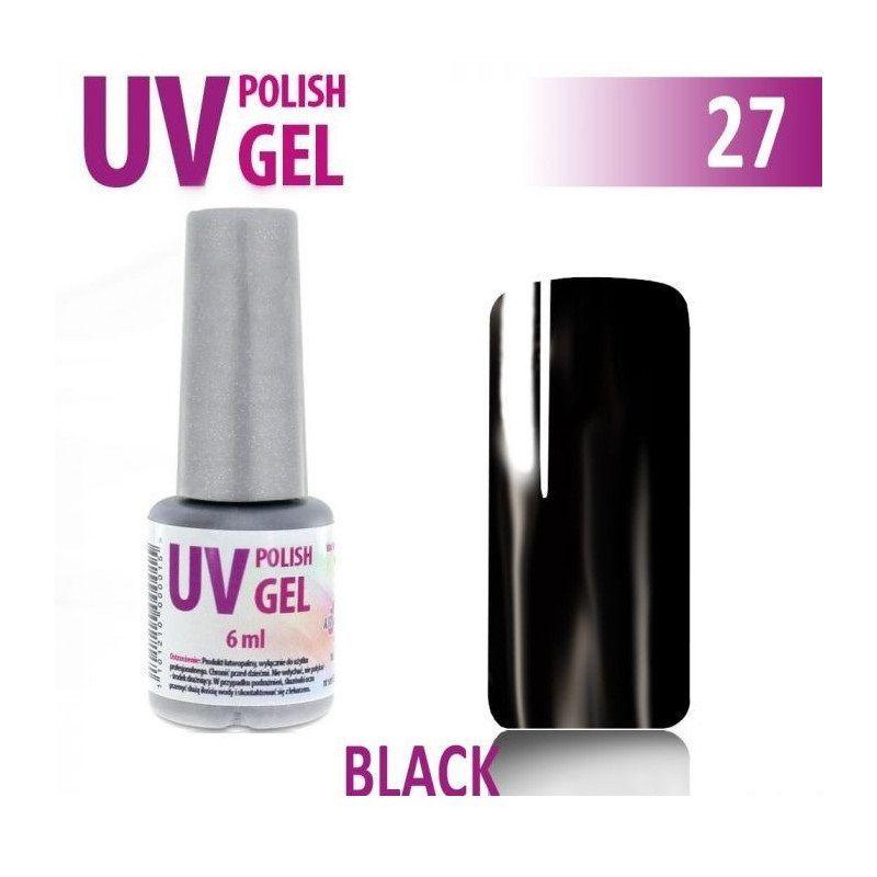 27.UV gel lak hybridní BLACK černý 6 ml