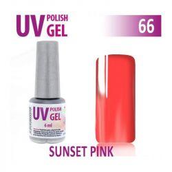 66.UV gel lak na nehty hybridní SUNSET PINK 6 ml (A)