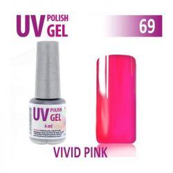 69.UV gel lak na nehty hybridní VIVID PINK 6 ml (A)