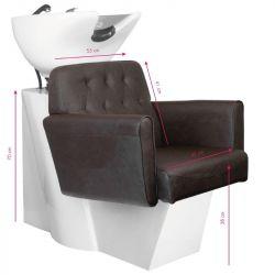 GABBIANO Kadeřnický mycí box HAMBURG hnědý