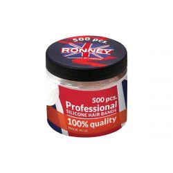 Profesionální silikonové elastické gumičky do vlasů barevné 500 ks